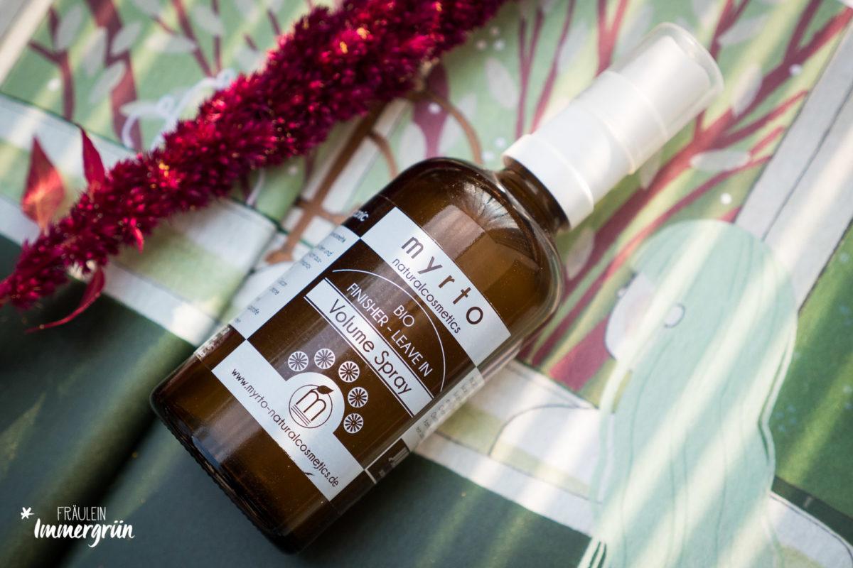 Natürliche Haarpflege mit einem Extra: Myrto Naturalcosmetics Volume Spray