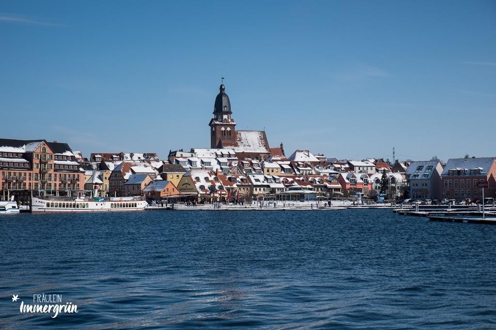 Winter in Waren an der Müritz – neuer Stadthafen