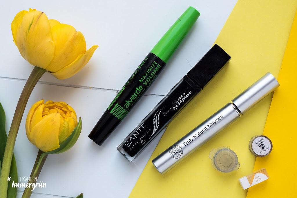 Alverde Maximize Volume Mascara, Sante Mascara Volume + Eye Brightener, Honeybee Garden Truly Natural Mascara, Andrea Biedermann Pröbchen