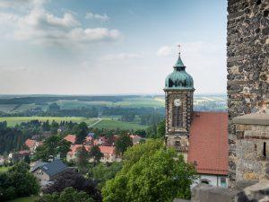 Blick von der Burg Stolpen, Sachsen