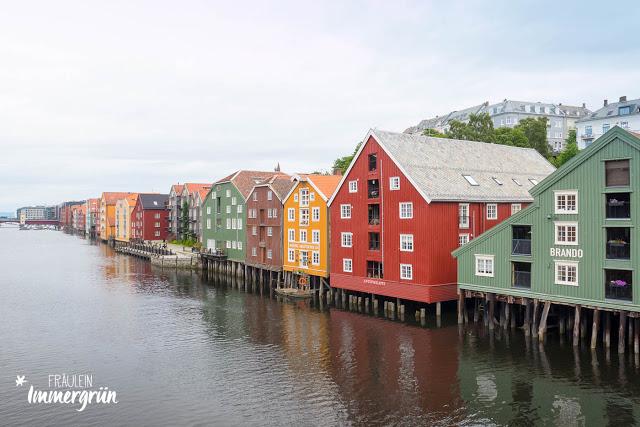 Norwegen: Trondheim von der Alten Stadtbrücke aus