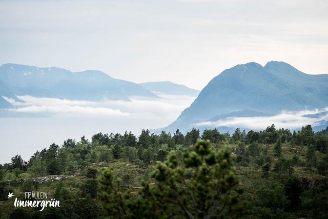 Norwegen: Molde von oben (auf dem Hausberg)
