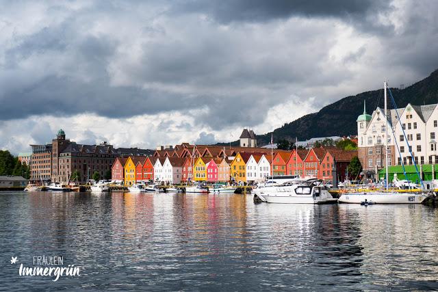Norwegen: Holzhäuser in Bergen