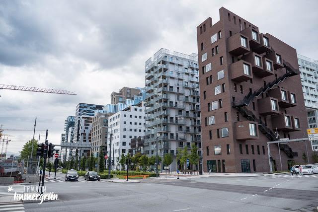 Oslo – Moderne Bauten in der Stadt: Barcode
