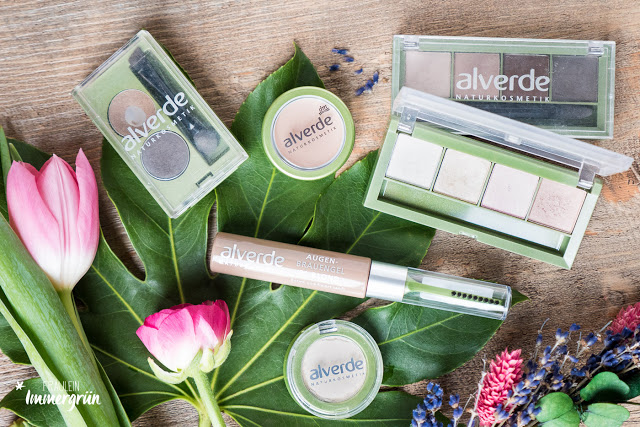 Alverde Lieblingsprodukte dekorative Kosmetik, Lidschatten, Concealer, Augenbrauen