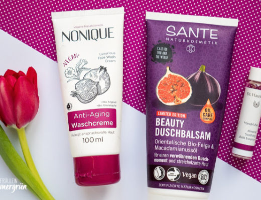 Kurz-Review von  Nonique Anti-Aging Waschcreme, Sante Beauty Duschbalsam Orientalische Bio-Feige & Macadamianussöl, Dr. Hauschka Mandelbad (Reisegröße)