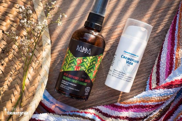 Dabba Waldhimbeerblätterwasser, Cremekampagne Cremefluid Vier Pur
