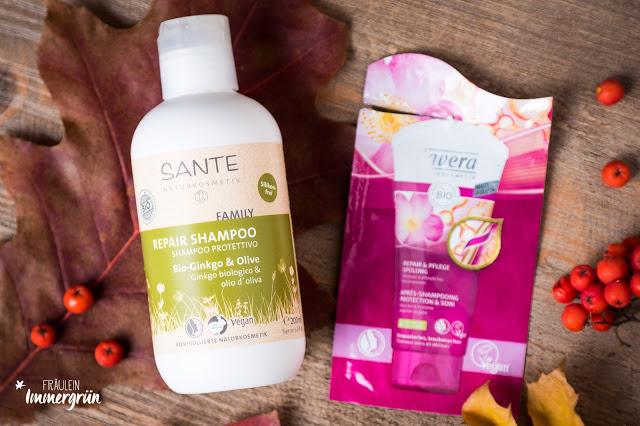 Sante Family Repair Shampoo, Lavera Repair & Pflege Spülung