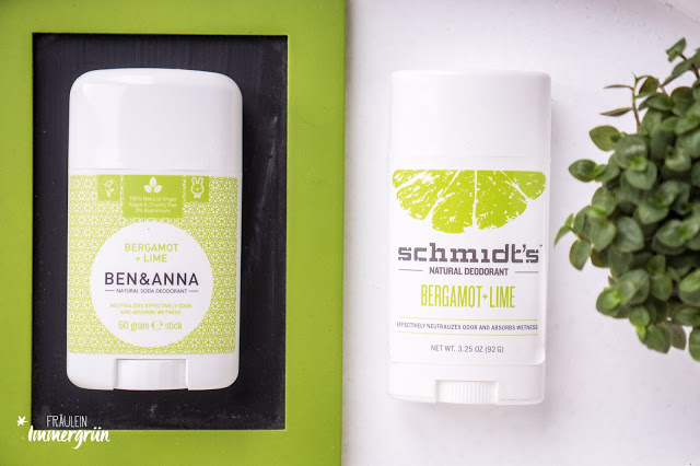 Ben & Anna Deostick Bergamot + Lime / Persia Lime, Schmidt's Natural Deodorant Stick Bergamot + Lime