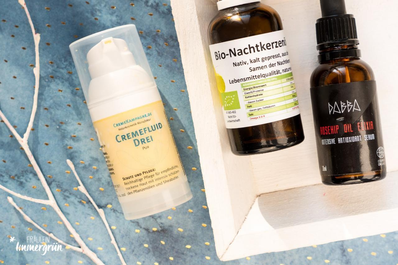 Cremekampagne Cremefluid Drei – reizarme, vegane, natürliche Gesichtspflege für sensible Haut