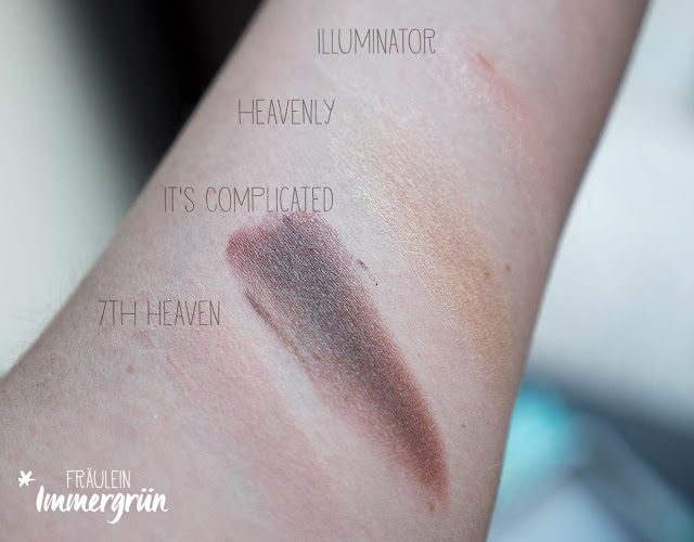 Everyday Minerals Shimmer Eye Shadow, All Over Shimmer Swatches