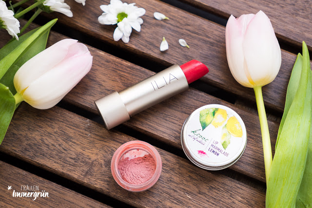 Ilia Tinted Lip Conditioner Bang Bang, Uoga Uoga Mineral Blush That Real Rose, Kivvi Lip Marmalade Lemon