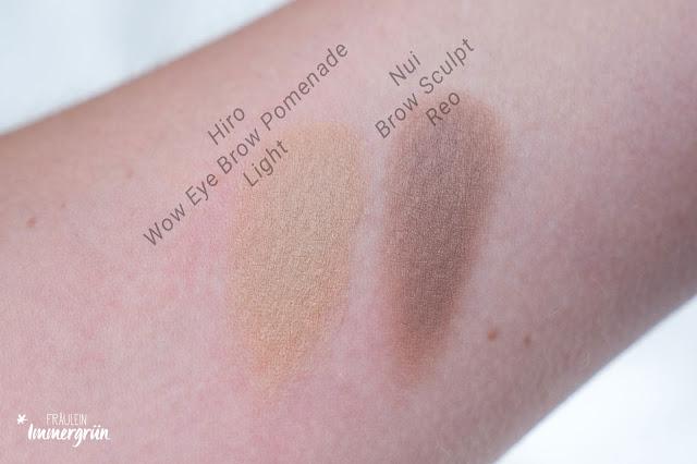 Vergleich Hiro Cosmetics und Nui Berlin Eye Brow