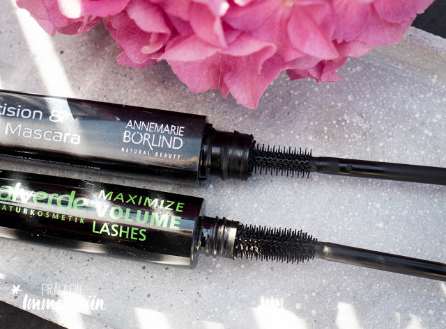 Mascara-Vergleich mit der Precision & Care Mascara von Annemarie Börlind und der Maximize Volume Mascara von Alverde.