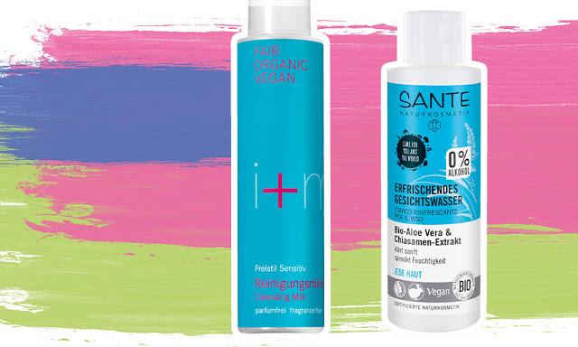 I+M Reinigungsmilch Freistil Sensitiv, Sante Erfrischendes Gesichtswasser Bio-Aloe Vera & Chiasamen-Extrakt