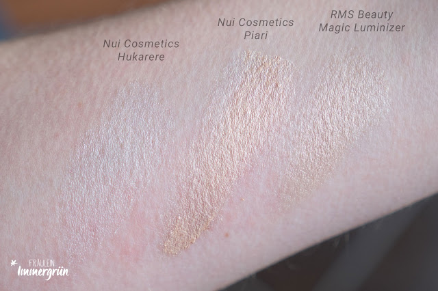 Nui Cosmetics Natural Illusion Cream Eyeshadows HUKARERE und PIARI