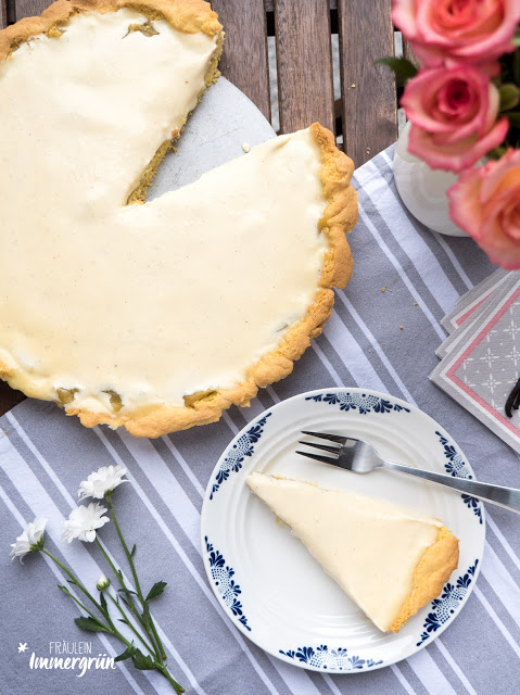 Rhabarber-Vanillecreme-Tarte (mit Agar Agar)