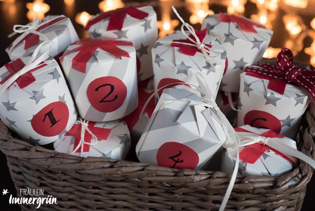 DIY Weihnachtskalender aus Pappbechern