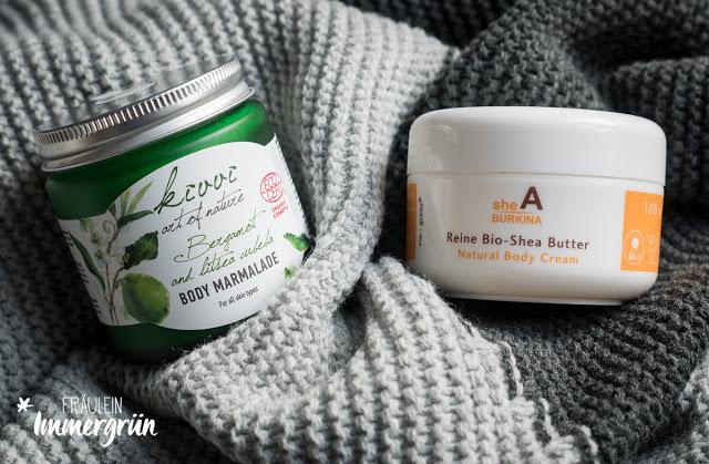 Kivvi Body Marmalade Bergamot and litsea cubeba // Finigrana Reine Bio-Sheabutter Shea Burkina