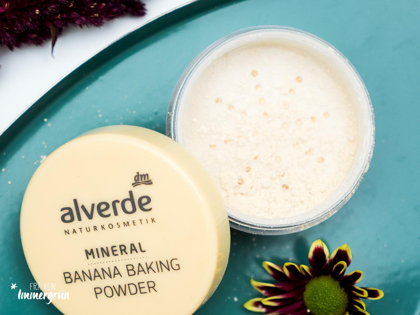 DM Alverde Neuigkeiten Herbst 2018 - vegane Naturkosmetik aus der Drogerie Mineral Banana Makeup Powder