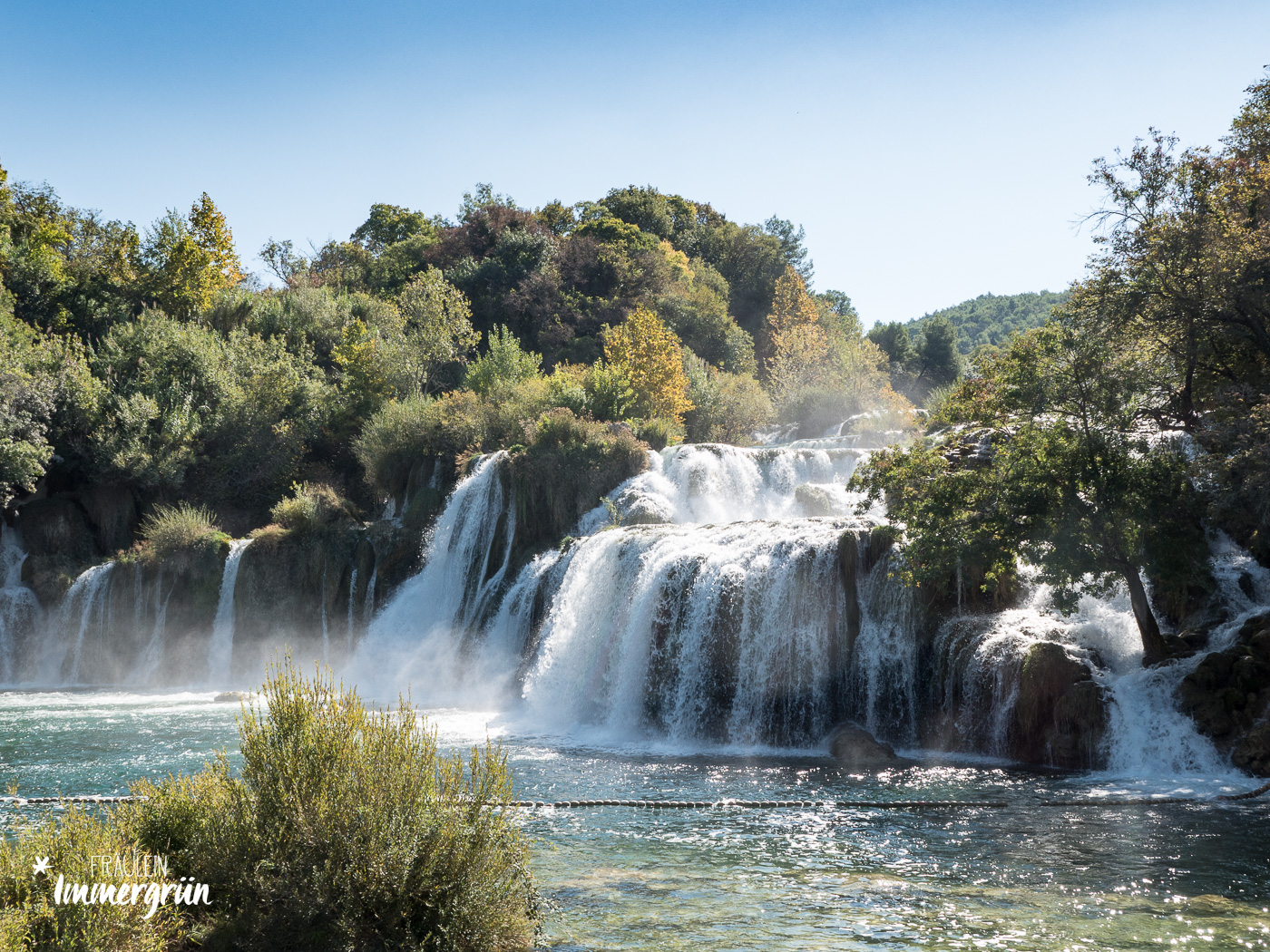 Dalmatien in Kroatien: Urlaub an der dalmatinischen Küste in der Nebensaison – Nationalpark Krka Skradinski buk