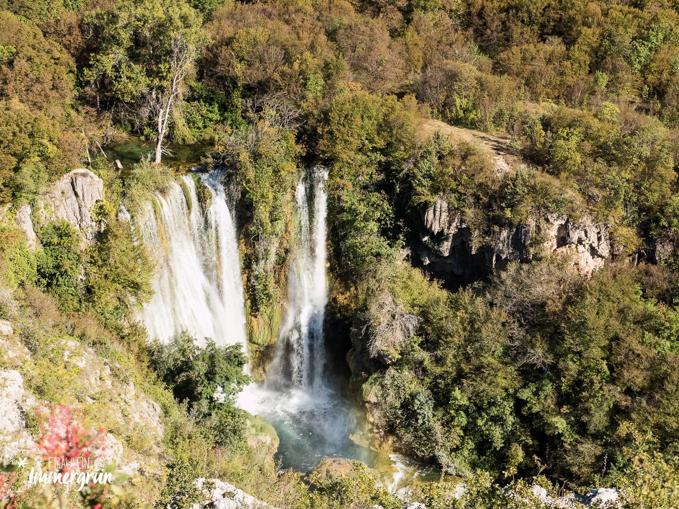 Dalmatien in Kroatien: Urlaub an der dalmatinischen Küste in der Nebensaison – Nationalpark Krka Burnum / Manojlovac Wasserfälle