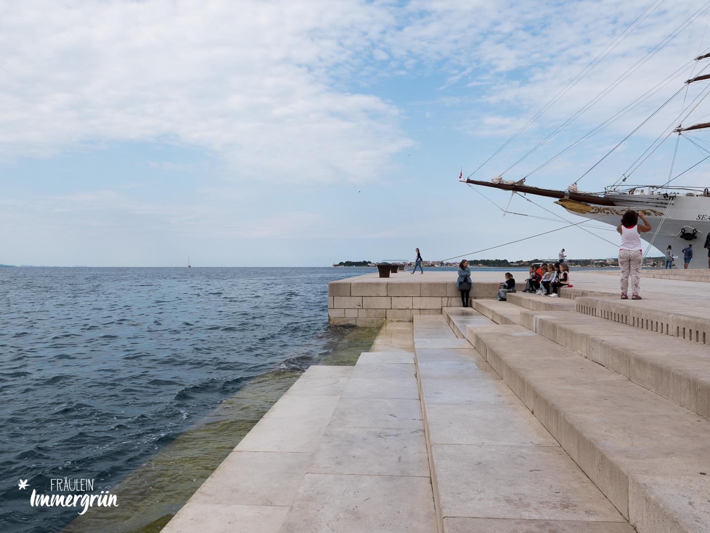 Dalmatien in Kroatien: Urlaub an der dalmatinischen Küste in der Nebensaison – Meeresorgel in Zadar