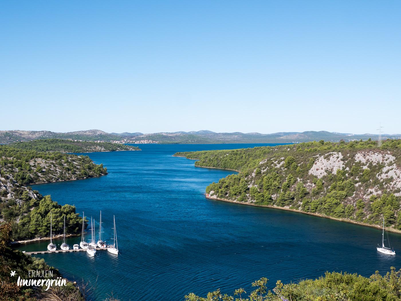 Kroatien Nationalpark Krka Mündung nach Sibenik