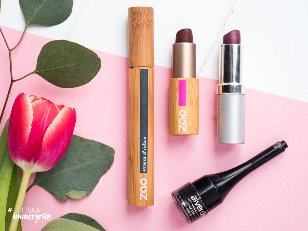 Naturkosmetik natürliches Makeup mit Zao Cosmetics, Angel Minerals, Alverde